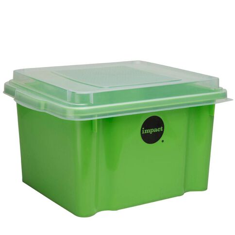 Impact Suspension File Box With Lid Green