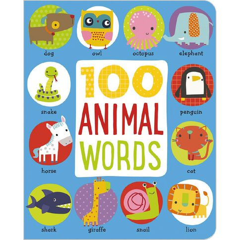 First 100 Animal Words Padded Board Book