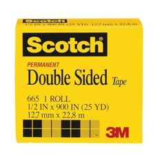 Scotch Double Sided Tape Refill 12.7mm x 22.8m Clear