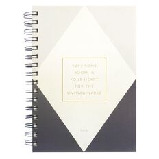 2018 Diary Day To Page Workspace White Grey Diamond Wiro A5