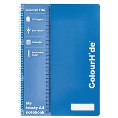 ColourHide Notebook 120 Pages Blue A4