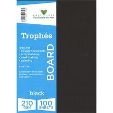 Trophee Board 210gsm 100 Pack Black A4