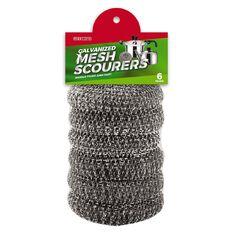 Maxcare Galvanized Mesh Scourers 18g x6's