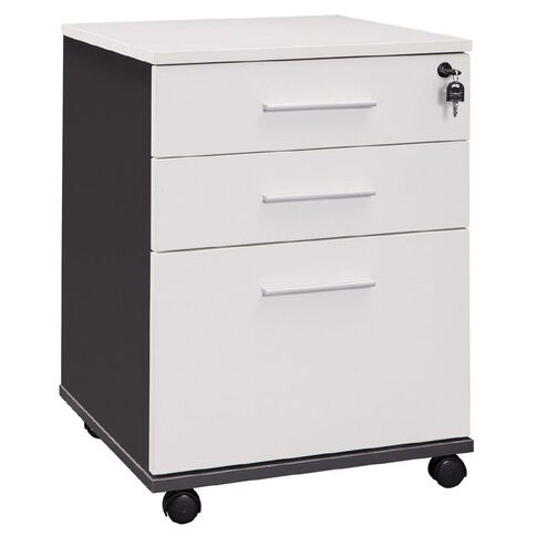 Workspace Office Brand Mobile 3 Drawer White White