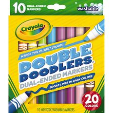 Crayola Double Doodler Markers 10 Pack 10 Pack