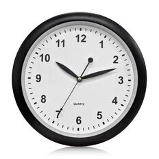 Effects Wall Clock Black 30cm