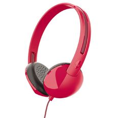 Skullcandy Stim On Ear Headphones Red/Burgundy