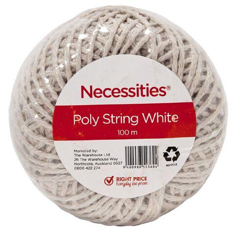 Necessities Brand Poly String White 100m