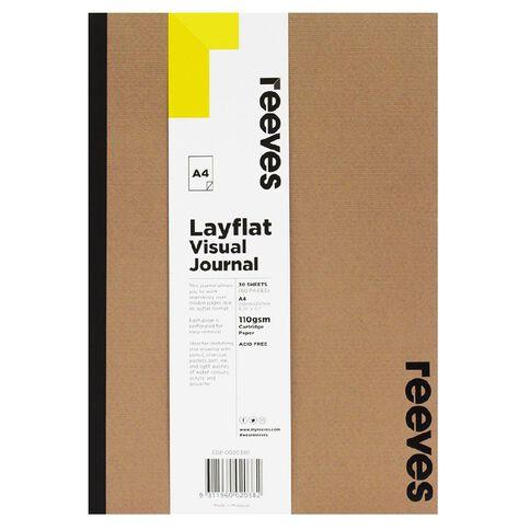 Reeves Visual Journal Layflat Kraft A4 30 Sheets Brown