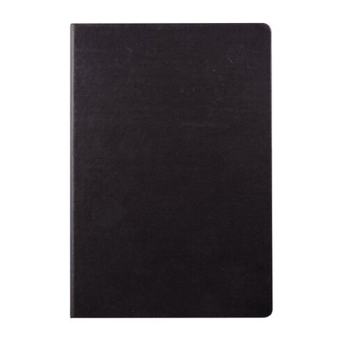 WS Hardcover PU Notebook Black A4