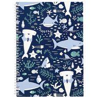 Kookie Sharks Sketchpad A4