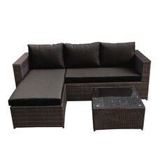 Sophia 3 Seat L Sofa with Coffee Table