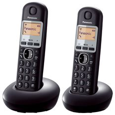 Panasonic Kx-Tgb212Nzb Twin Cordless Phone Black