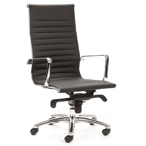 Chair Solutions Contempo Highback Chair Black PU Black