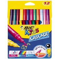 Bic Kids Cascade Colouring Felt Pens Multi-Coloured 12 Pack