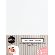 Rosie's Studio Value Cards And Envelopes C6 25 Pack White