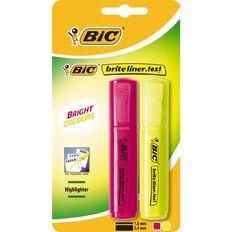 Bic Briteliner Text Highlighter 2 Pack