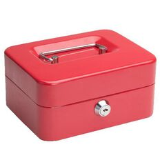 Cash Box 6 inch Red
