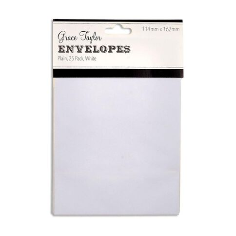Grace Taylor Envelopes White C6 25 Pack White