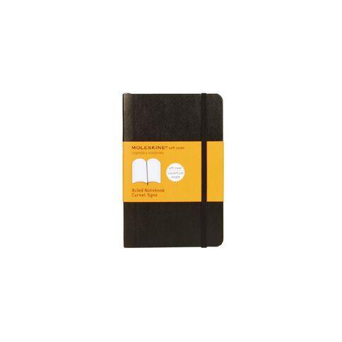Moleskine Classic Soft Cover Notebook Ruled Black