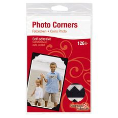 3L Scrapbook Adhesives Paper Corners 108 Pack Black