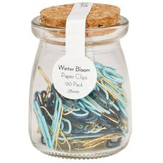 Uniti Winter Bloom Paper Clips In Jar 120 Pack