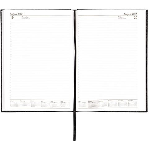 WS Diary 2021 Day To Page Black A4