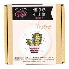 Craft Crush Mini Cross Stitch Kit Cactus