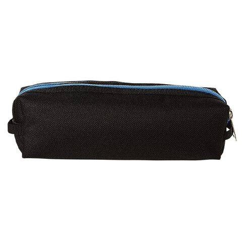 Warehouse Stationery Double Zip Pencil Case Black