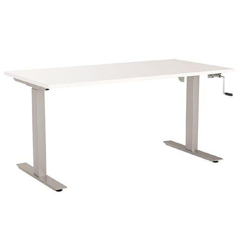 Agile Height Adjustable Desk 1800 White/Silver