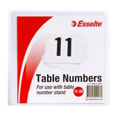 Esselte Table Numbers 11-20 10cm 10 Pack White