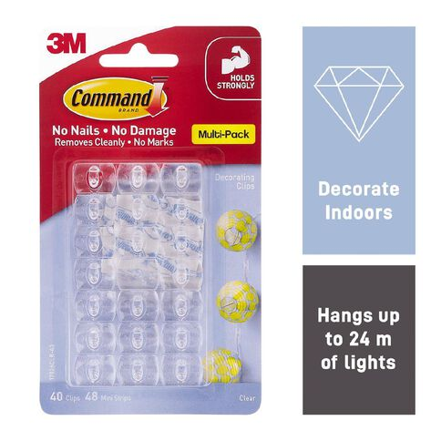 Command Clear Decorating Clips with Clear Strips Value Pack