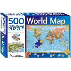 Hinkler Puzzlebilities World Map 500 Piece Jigsaw Puzzle