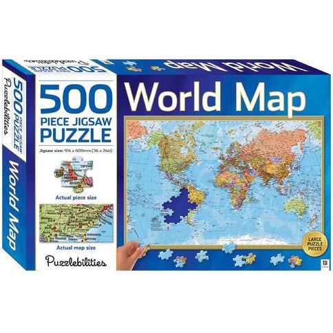 Puzzlebilities World Map 500 Piece Jigsaw Puzzle
