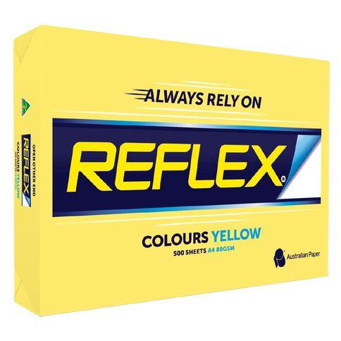 Reflex Paper 80gsm Tints 500 Pack Yellow A4