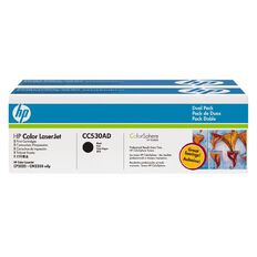 HP Toner CC530AD Black 2 Pack (7000 Pages)