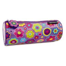 Pencil Case Flower Blooms Purple
