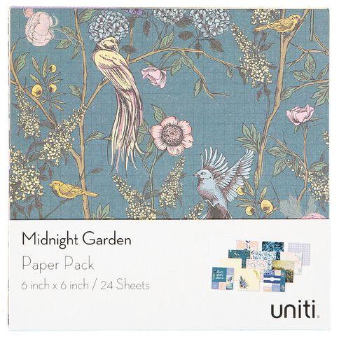 Uniti Midnight Garden Paper Pad 6in x 6in