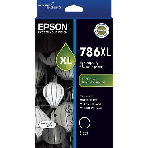Epson Ink 786XL Black (2600 Pages)