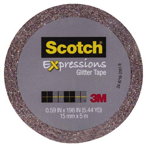 Scotch Craft Glitter Tape 15mm x 5m Multi-Coloured