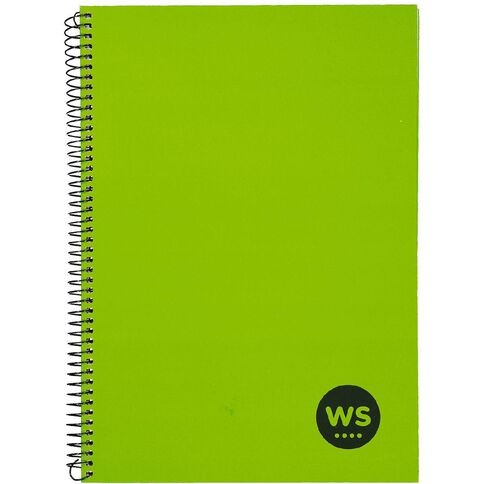 WS Notebook Wiro 200 Pages Hard Back Green A4