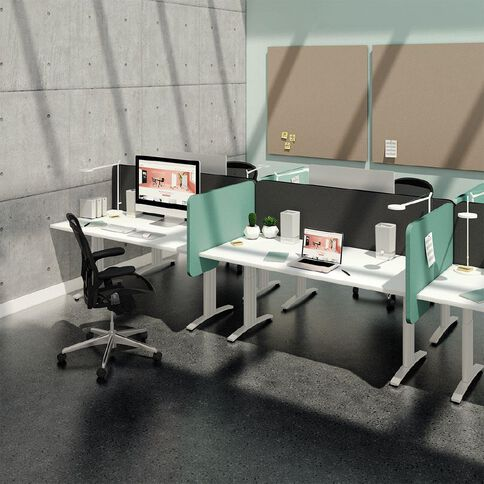 Boyd Visuals Desk Divider Turquoise 540mm x 800mm