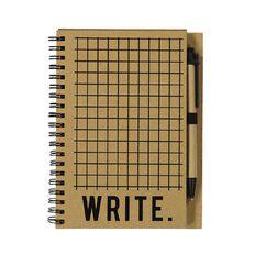 Uniti Craft Notebook Set With Pen Natural