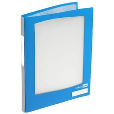 ColourHide Refillable Display Book 20 Pockets Blue A4