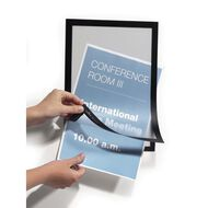 DURAFRAME Self Adhesive Sign 1 Pack Silver A4