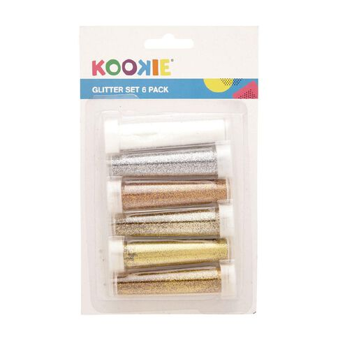 Kookie Glitter Set 6 Pack Gold and Silver