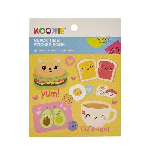 Kookie Mini Sticker Book 12 Sheets Snack Time