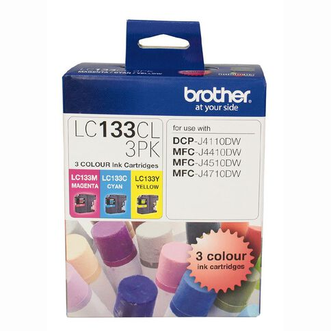 Brother Ink LC133 Colour 3 Pack (600 pages)