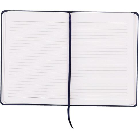 WS Hardcover PU Notebook with Elastic Navy A5