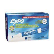 Expo Whiteboard Marker Low Odour Bullet 12 Pack Blue